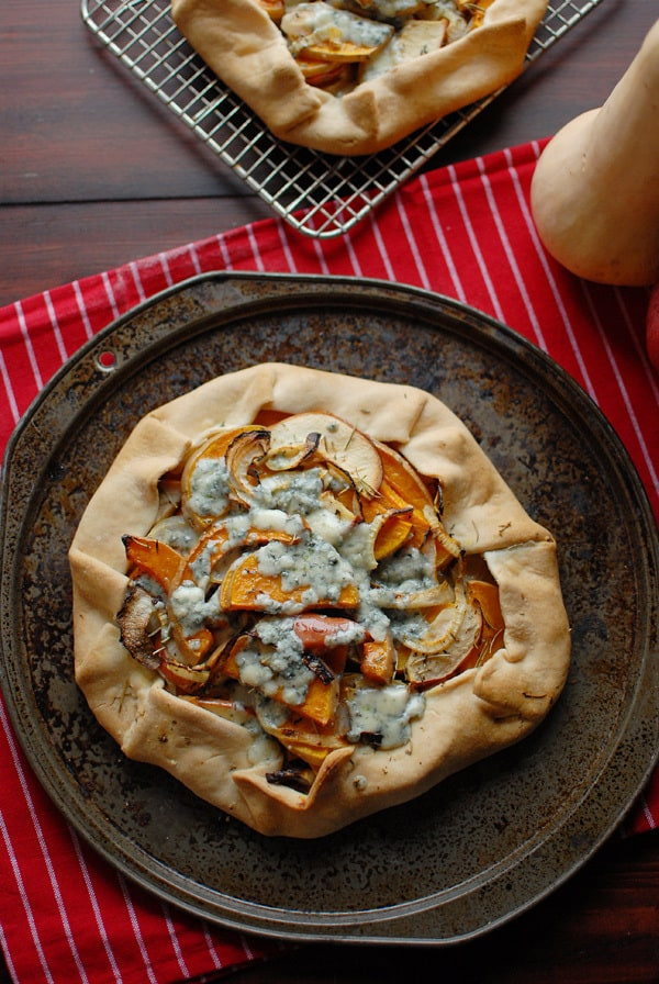 Winter Squash and Blue Cheese Galette