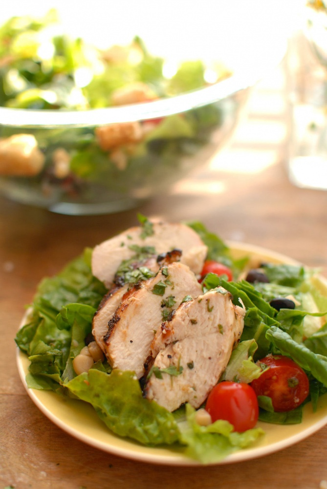 Country Garden Update And Cilantro Lime Grilled Chicken Salad
