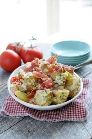 Summer Dill Potato Salad from EatinontheCheap.com