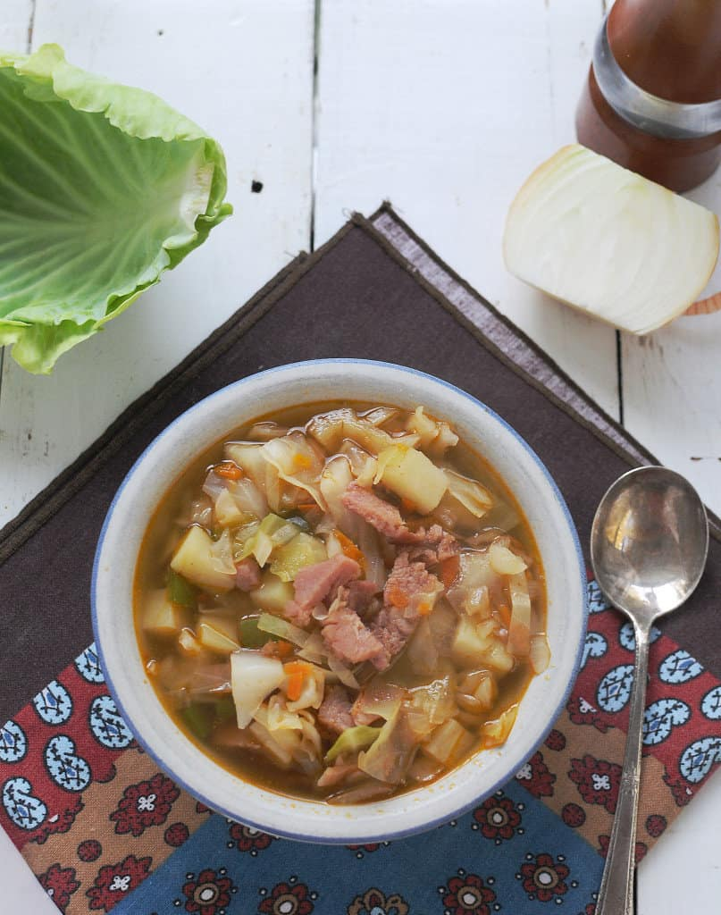 Ham and Cabbage Soup from EatinontheCheap.com