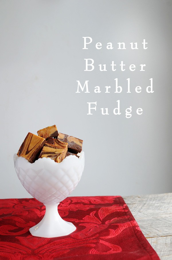 Peanut Butter Marbled Fudge