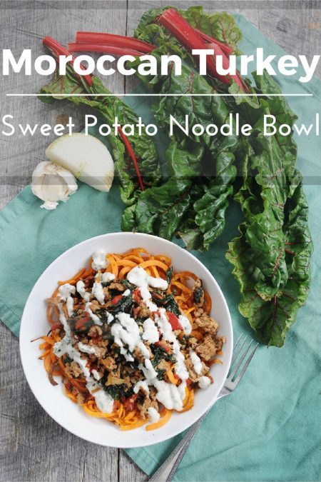 Sweet Potato Noodles And Moroccan Turkey Winter Bowl