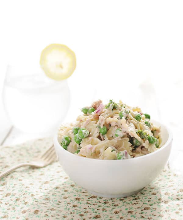 Creamy Tuna and Sweet Pea Pasta Salad
